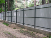 Забор из цветного профнастила под ключ цена Харьков с установкой - foto 0