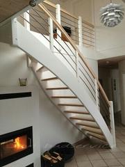 Деревянные лестницы на тетивах. Изготовлени,  продажа в Харькове - foto 1