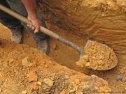 Выкопаем сливную яму,  приямок,  смотровой колодец