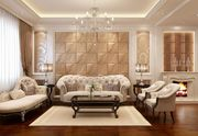 Дизайн гостиной: обзор отделочных материалов для стен